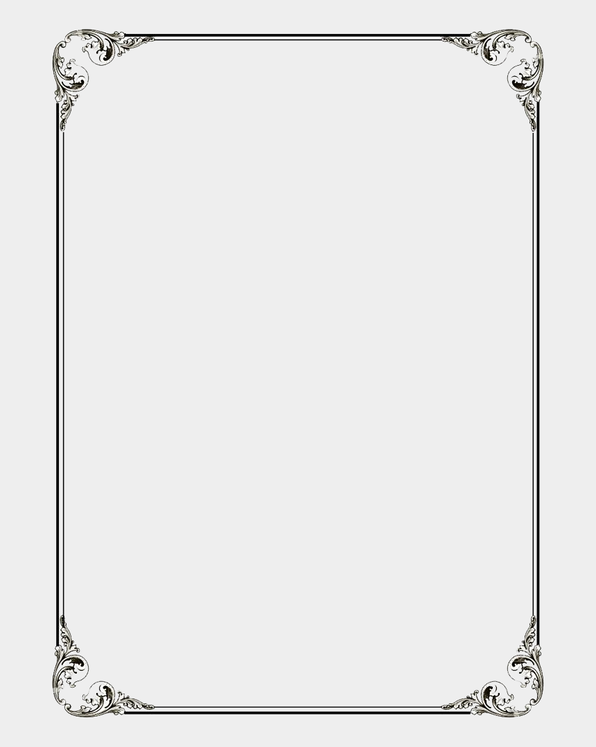 black frame clipart transparent, Cartoons - Black Border Frame Png File - Simple Page Border Design