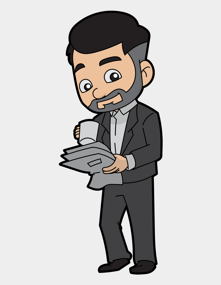 people drinking coffee clipart, Cartoons - Cartoon Businessman Drinking Coffee - Transparent Cartoon Drink Coffee Png