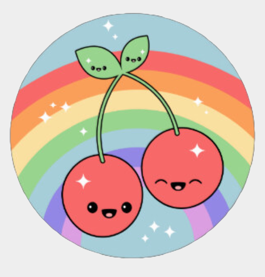 red cherry clipart, Cartoons - #cherry #cute #kawaii #rainbow #two Fruit #tropical - Cherry Drawing Kawaii