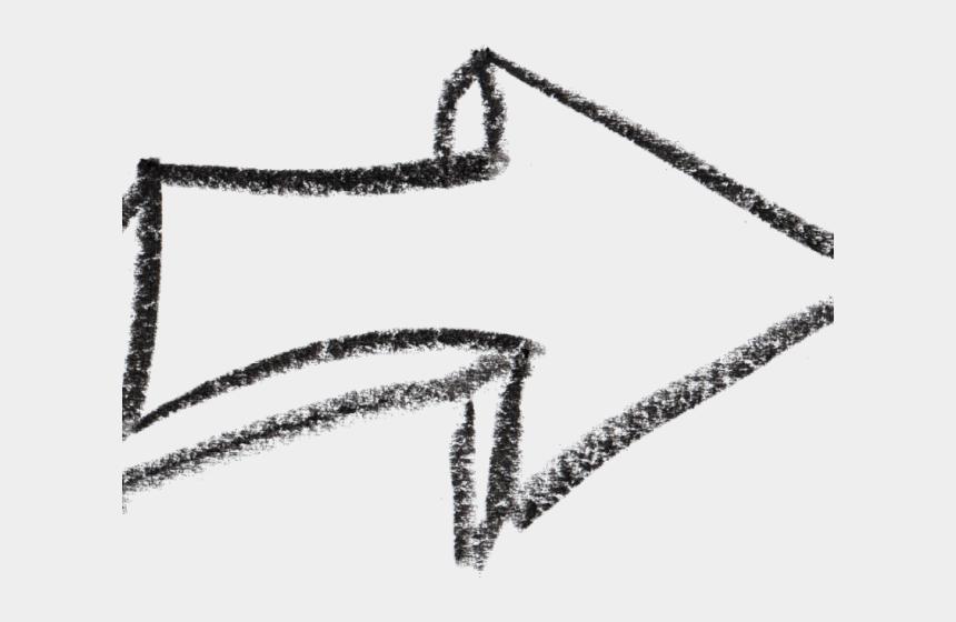 chalkboard arrow clipart, Cartoons - Drawn Arrow Crayon - White Arrow Drawing Png