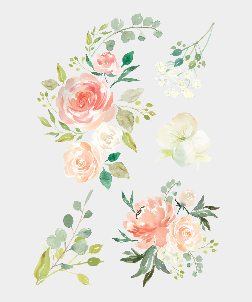 watercolor rose clipart, Cartoons - Free Icons Png - Watercolor Flowers Transparent Png