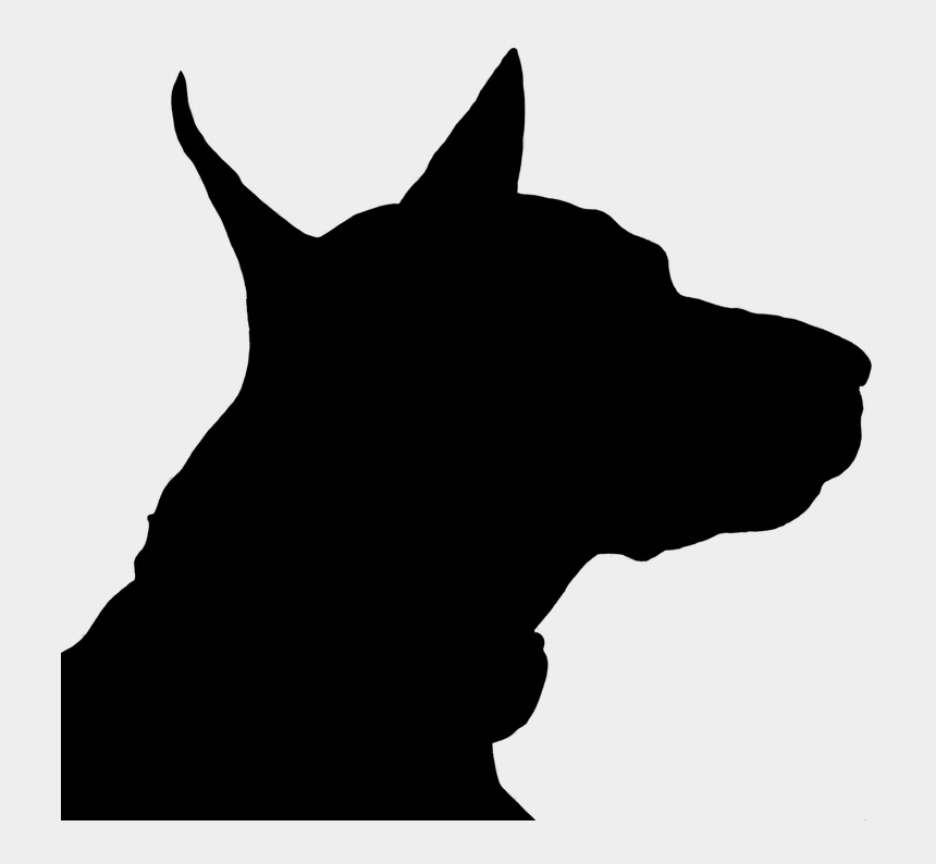 dog head clipart black and white, Cartoons - Dog Head Silhouette Png - Anjing Siluet