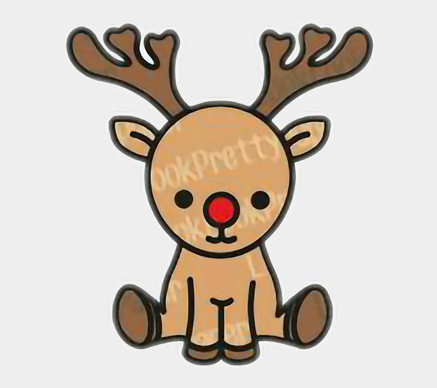 Reno Navidad Stiker Navidad2017 Kawaii Dibujos De Un Reno