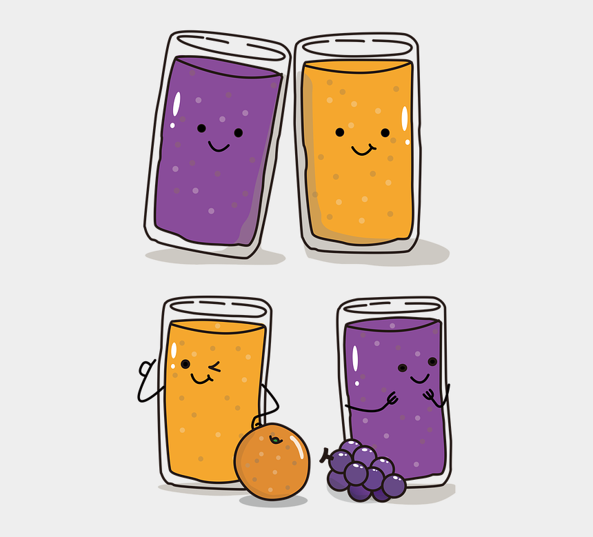 glass of orange juice clipart, Cartoons - Cuteness Cup Grape Orange Fruit Juice Cartoon - Gambar Kartun Jus Buah