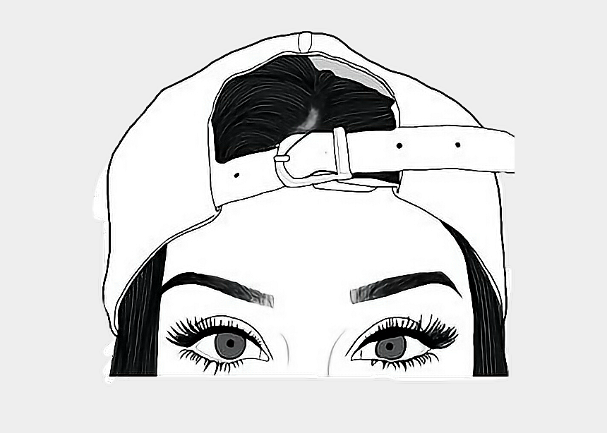 sexy eyes clipart, Cartoons - #tumblr #tumblrgirl #sticker #eyes #hat #freetoedit - Drawings To Trace Girls