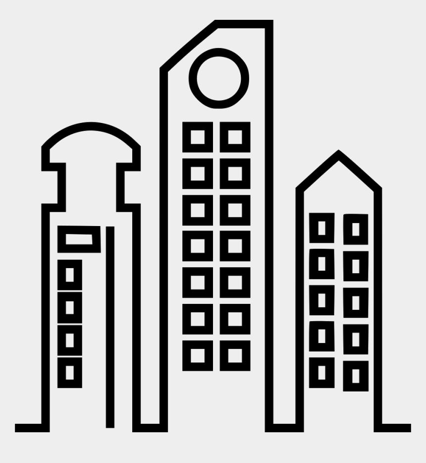 sky scraper clipart, Cartoons - Skyscraper Comments - High Rise Building Icon