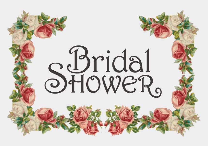 bridal shower invitation clipart, Cartoons - Floral Clipart Bridal Shower - Design Background Border Flower