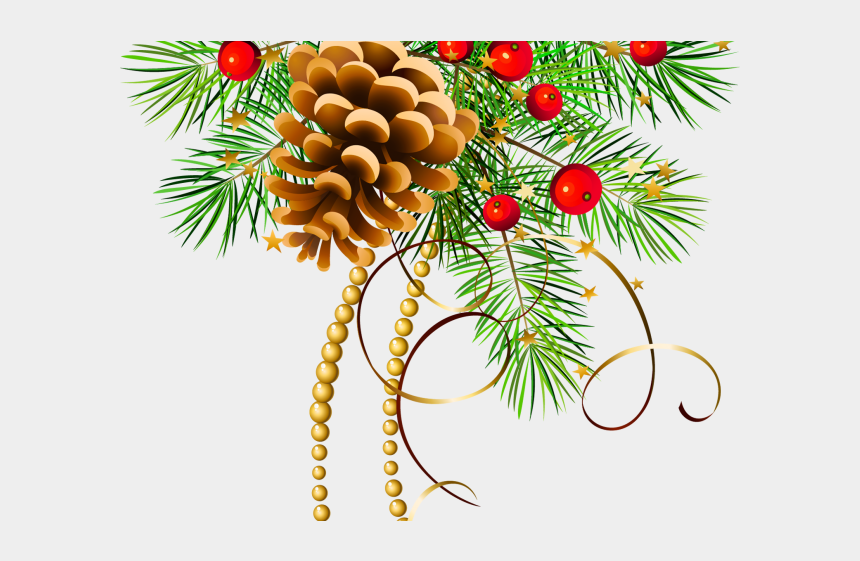 pine tree branch clipart, Cartoons - Pine Cone Clipart One Stroke - Transparent Retro Christmas Clipart