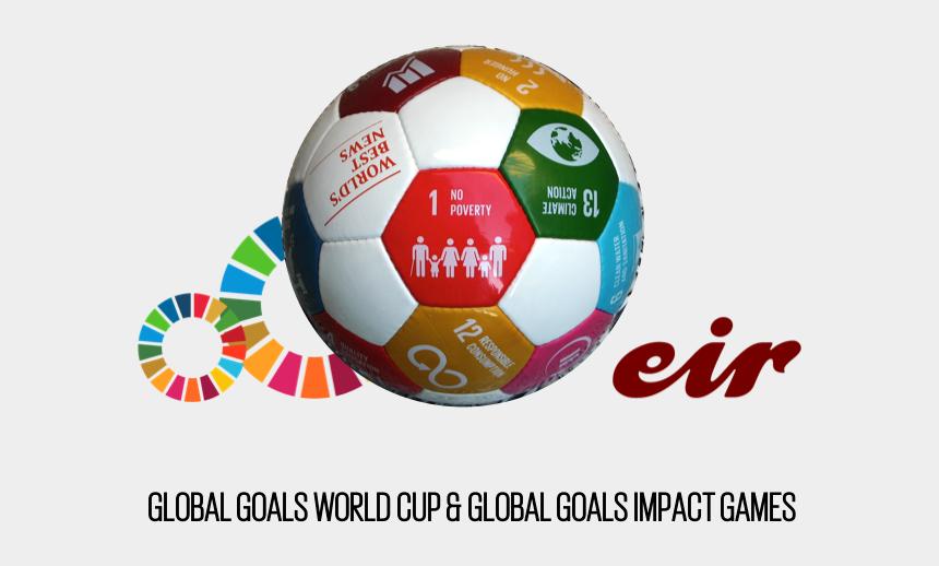 kicking a soccer goal clipart, Cartoons - Global Goals World Cup Logo