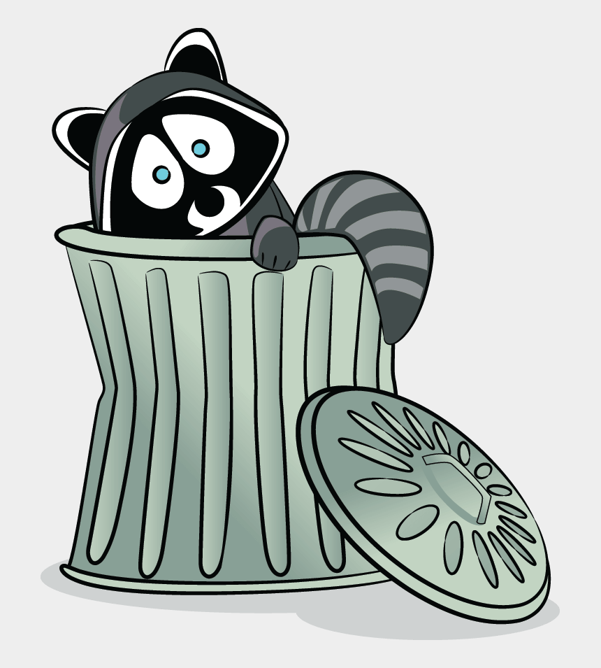living things clipart, Cartoons - Pbs Learningmedia - Raccoon Trash Can Clipart