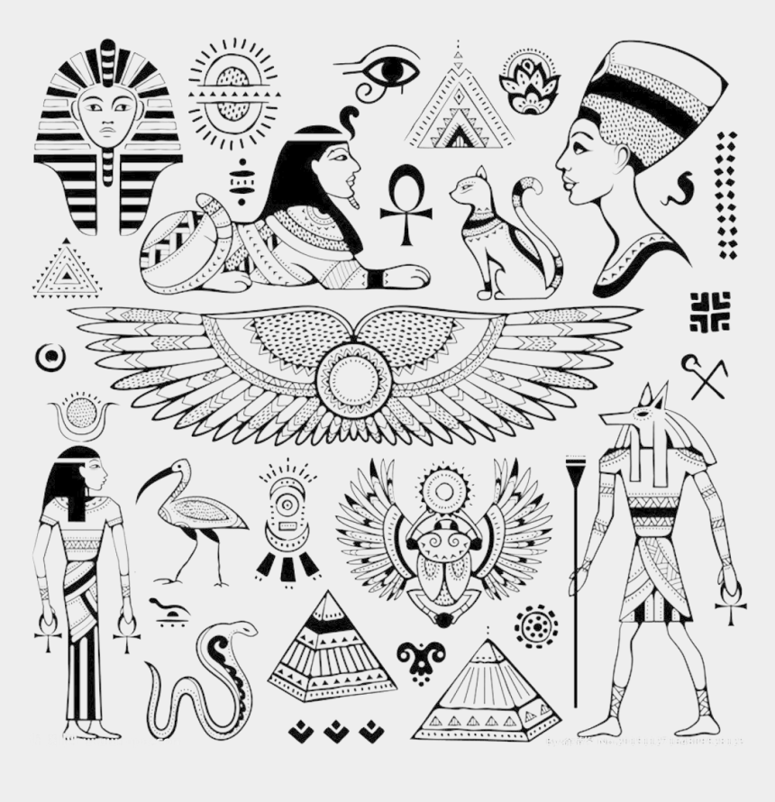 egyption clipart, Cartoons - Hieroglyphics Drawing Egyptian - Egyptian Symbols