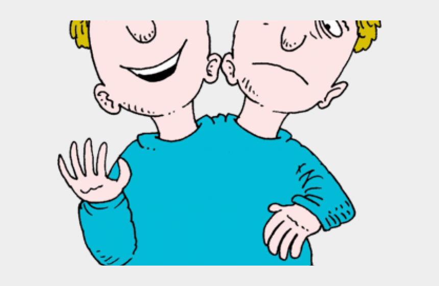 clipart of two people, Cartoons - People Clipart Two Faced - 2 Headed Man Cartoon