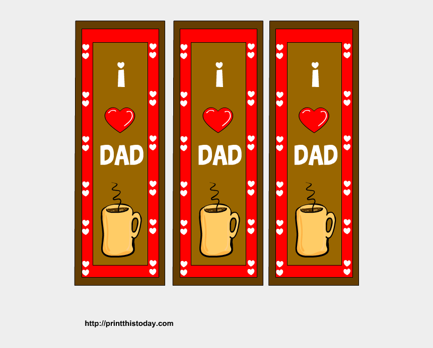 free fathers day clipart images, Cartoons - I Love Dad Bookmarks
