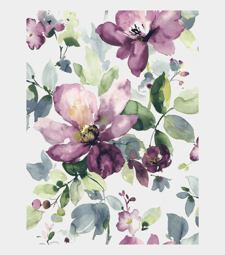 blooming clipart, Cartoons - Painted Wallpaper Watercolour Watercolor Purple Design - Purple Floral Watercolor Background