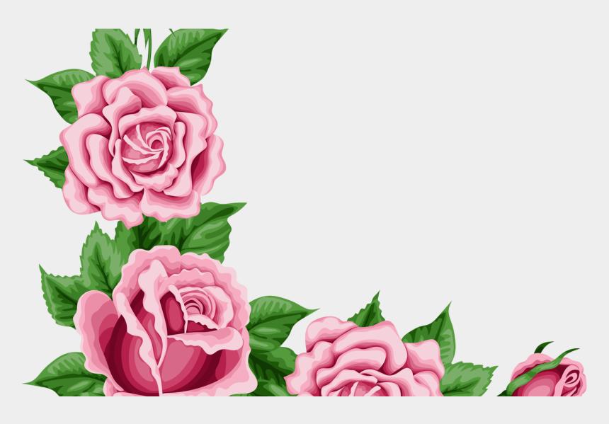 clipart roses border, Cartoons - Roses Corner Border Clip Art Cliparts - Pink Flower Border Transparent