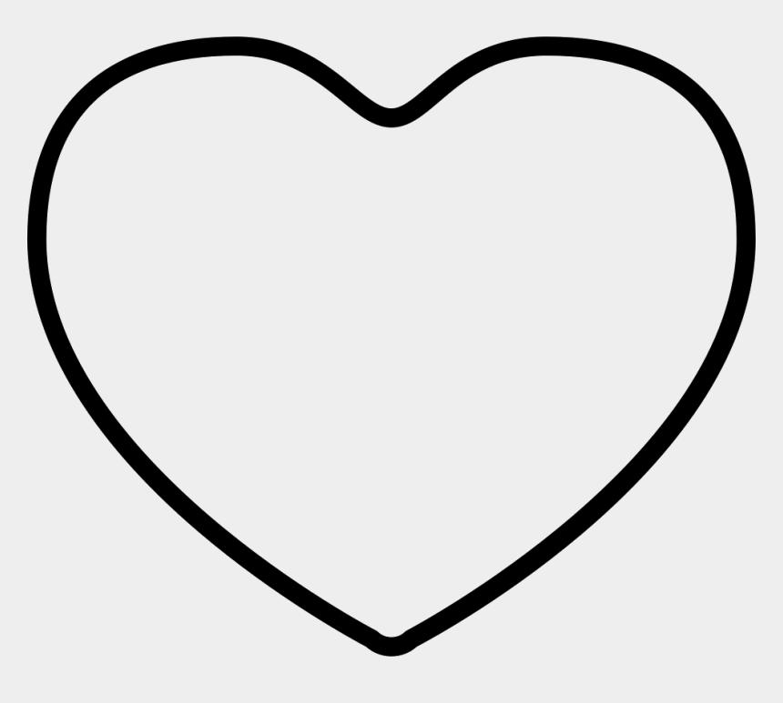 black heart outline clipart, Cartoons - Png Heart Outline - Heart Outline Png Free