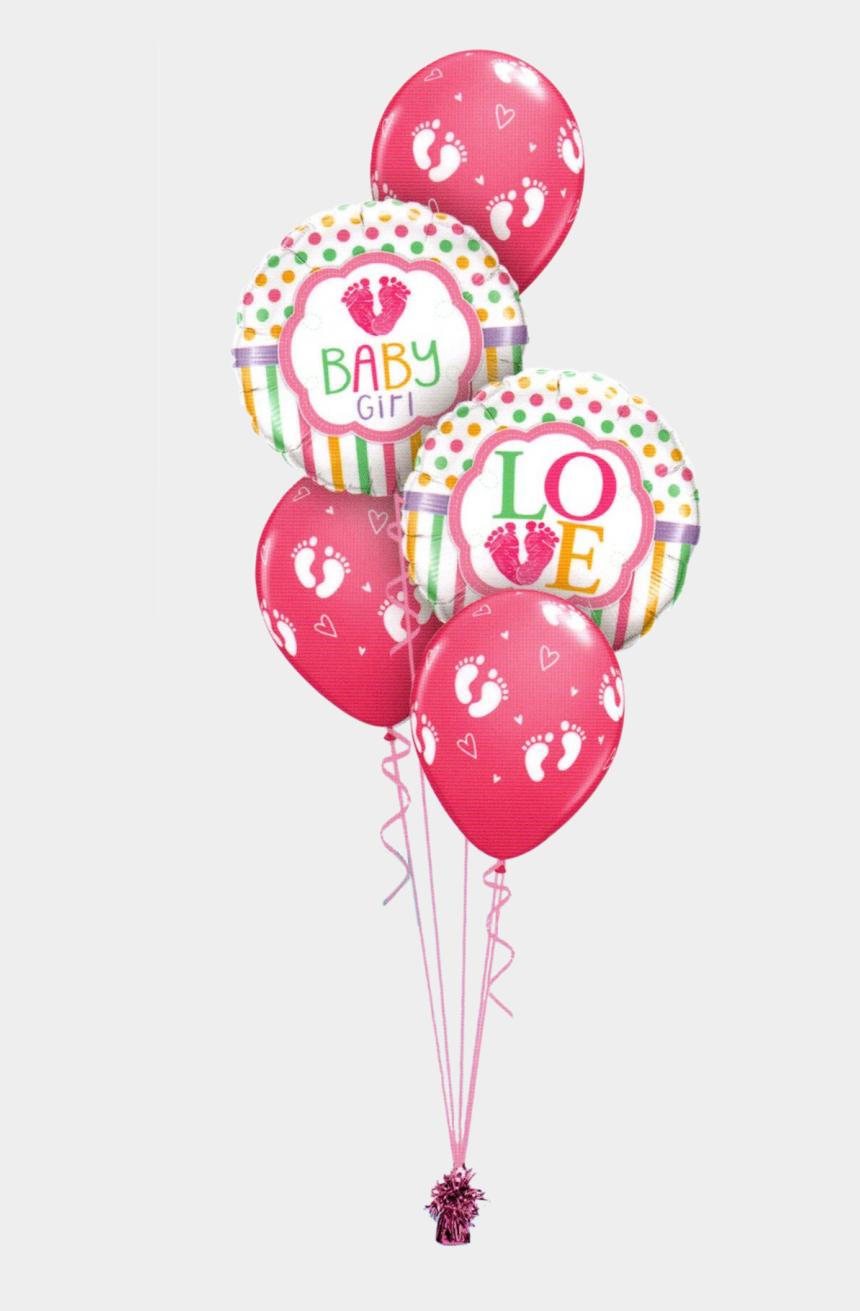 baby girl footprint clipart, Cartoons - Baby Foot Print Png - Balloon