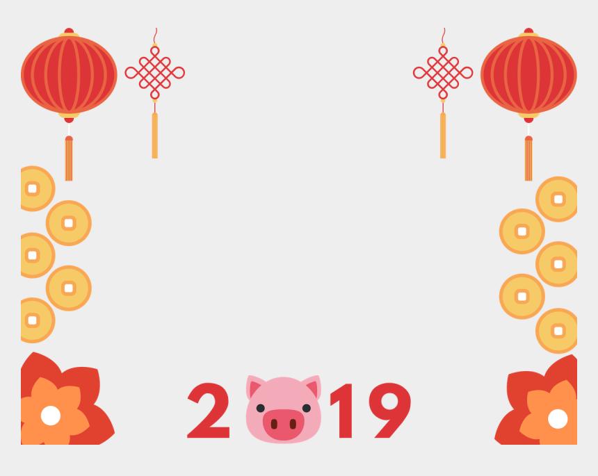 new year border clipart, Cartoons - Chinese New Year Manycam Borders Year Of The Pig 2019 - Chinese New Year Border