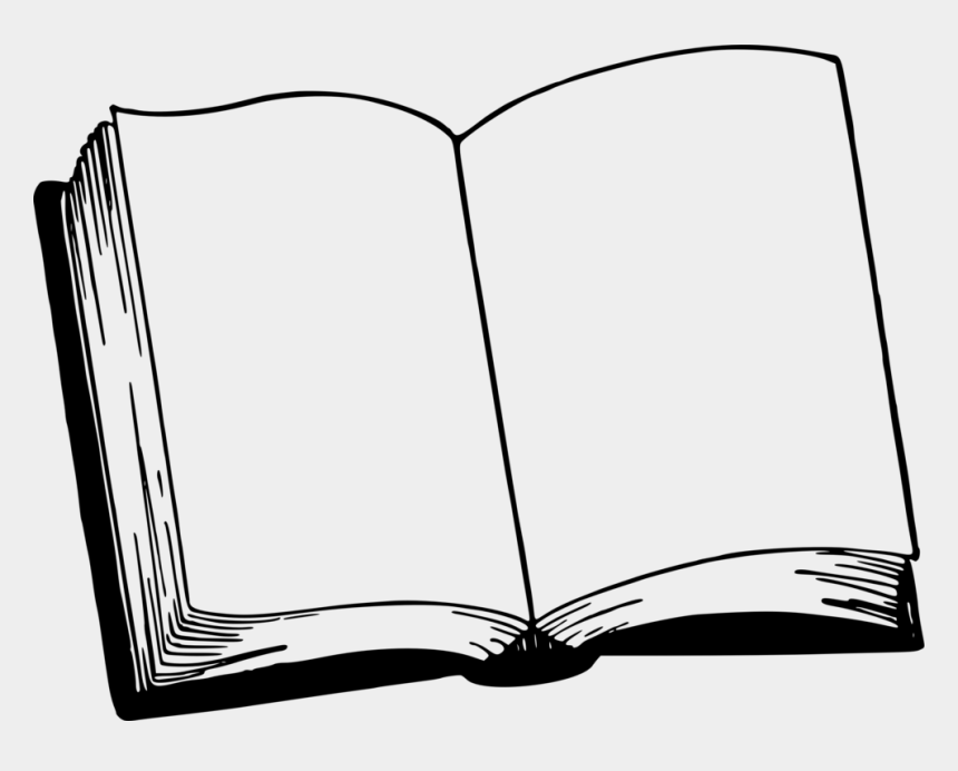 Coloring Book Line Art Drawing Comic Book - Blank Open Book