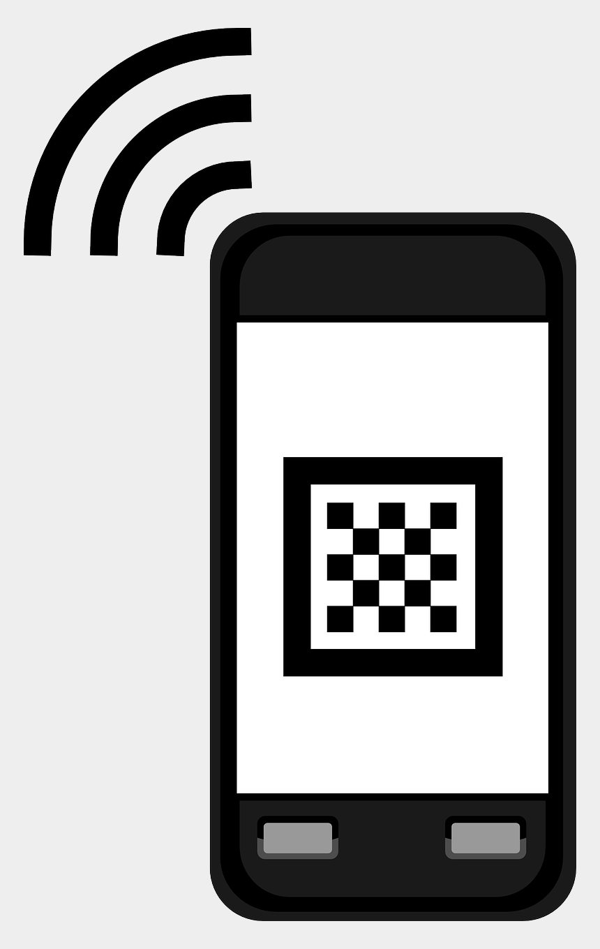 free clipart images of cell phones, Cartoons - Cellphone Cell Mobile Free Picture - Qr Code Clip Art