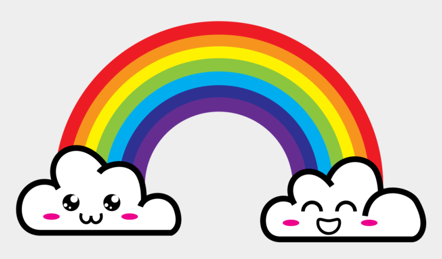 rainbow clouds clipart, Cartoons - Download Now Free Printable Rainbow Invitation Template - Cartoon Rainbow With Clouds Png