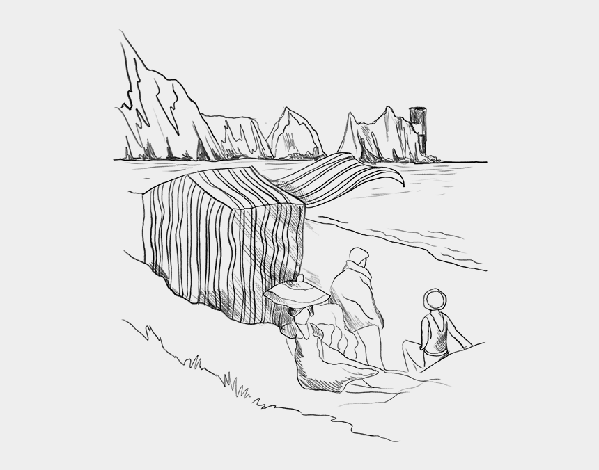 summer beach clipart black and white, Cartoons - Morning Drawing Beach - Drawing Cartoon Houses On The Park Line Drawing