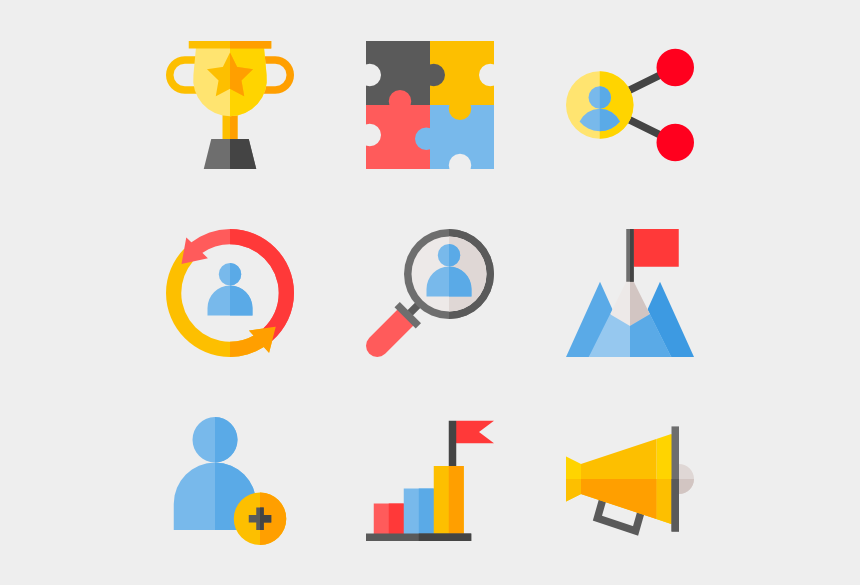 group of business people clipart, Cartoons - Team Building - Association Icon Png