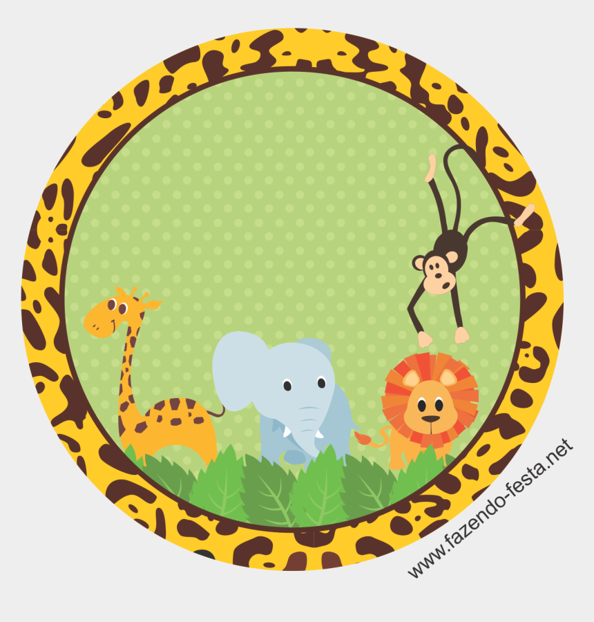 baby shower animal clipart, Cartoons - Kit Festa Safari Adesivo Sacolinha - Safari Baby Shower Png