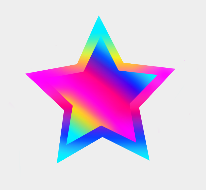 colorful star clipart, Cartoons - #freetoedit #stars #star #rainbow #png #colors #green - Rainbow Colorful Stars Png