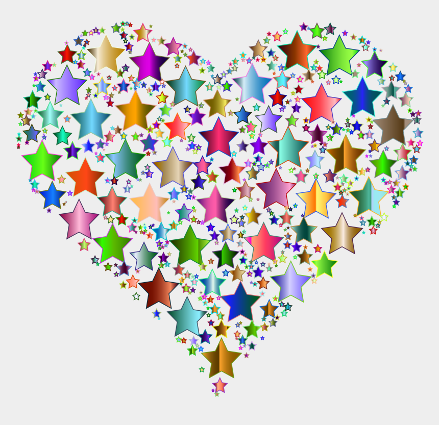 colorful star clipart, Cartoons - Computer Icons Heart Star Color - Transparent Background Valentines Clipart