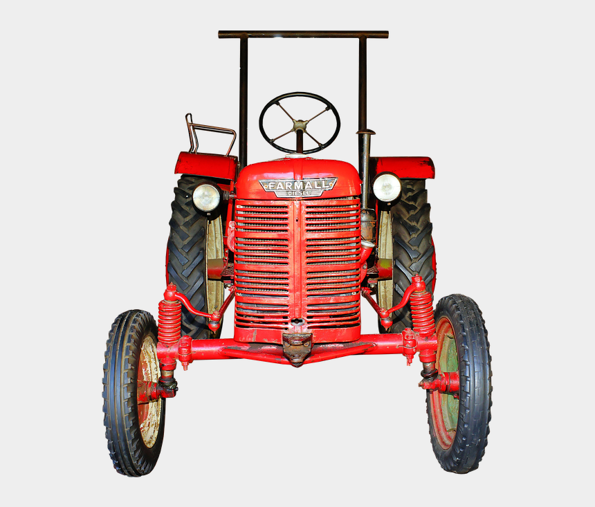 vintage tractor clipart, Cartoons - Farmall Diesel Tractor - Png Tractor