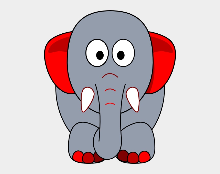 indian elephants clipart, Cartoons - Grey Elephant With Red Accents Clip Art - Red And Gray Elephant