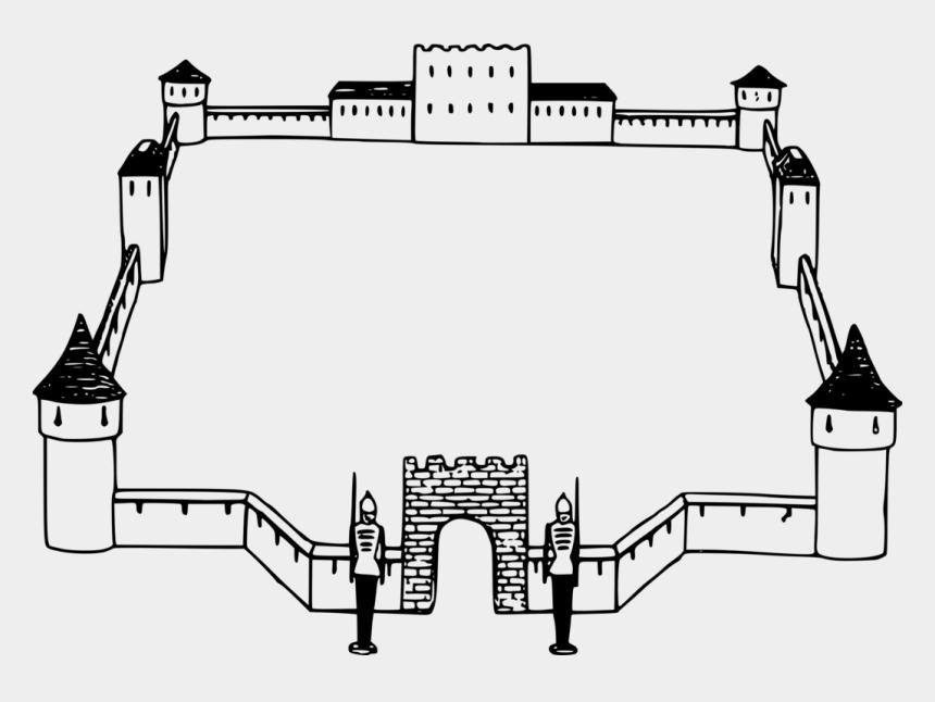 sand castle clipart black and white, Cartoons - Borders And Frames Bridge Castle Picture Frames Sand - Castle Border Clip Art