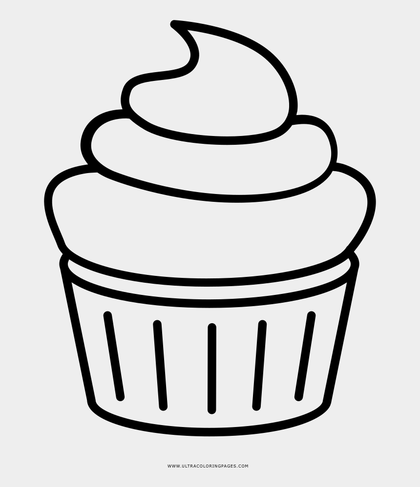 halloween cupcakes clipart, Cartoons - Outline Cupcake Clipart Black And White