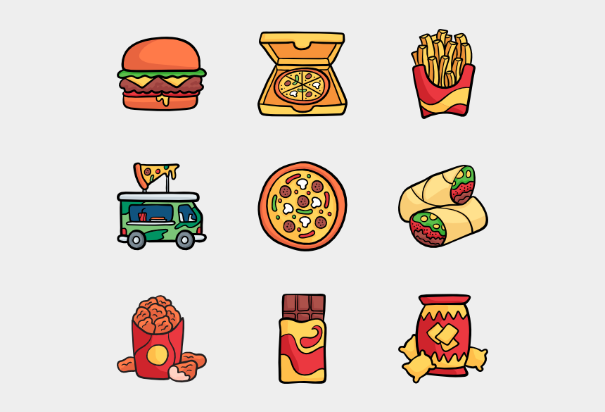 unhealthy foods clipart, Cartoons - Fast Food - Escudos De Aguilas