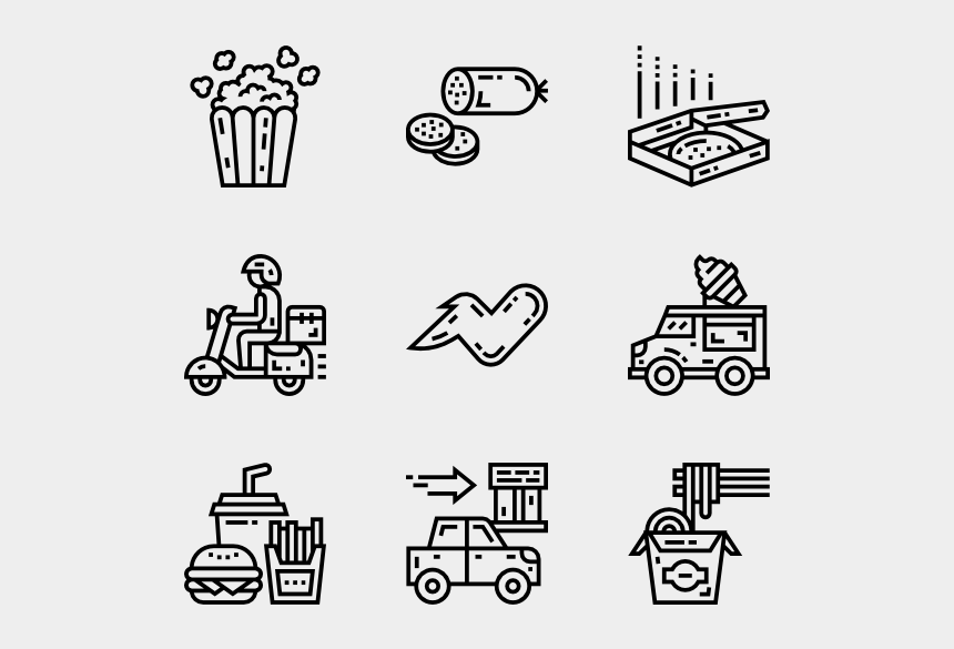unhealthy foods clipart, Cartoons - Fast Food - Fast Food Icon Packs