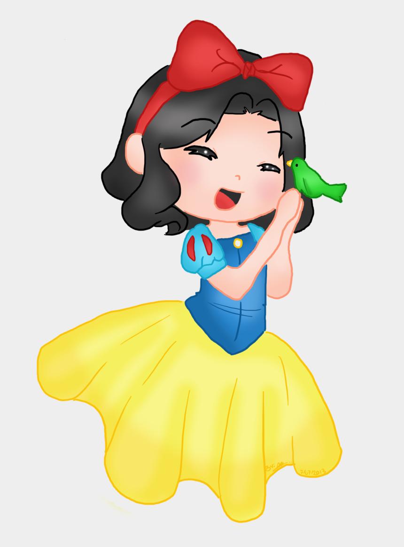 disney snow white clipart, Cartoons - Chibi Snow White By Ruzovymonster - Baby Snow White Cartoon