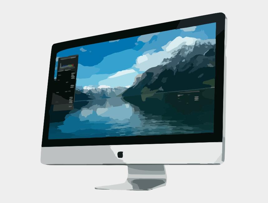 flat screen television clipart, Cartoons - Apple Imac 27
