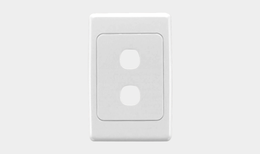 clipsal lockable gpo, Cartoons - Flush Surround And Grid Plate, 2 Gang, Vertical/horizontal - Clipsal 2 Gang Plate