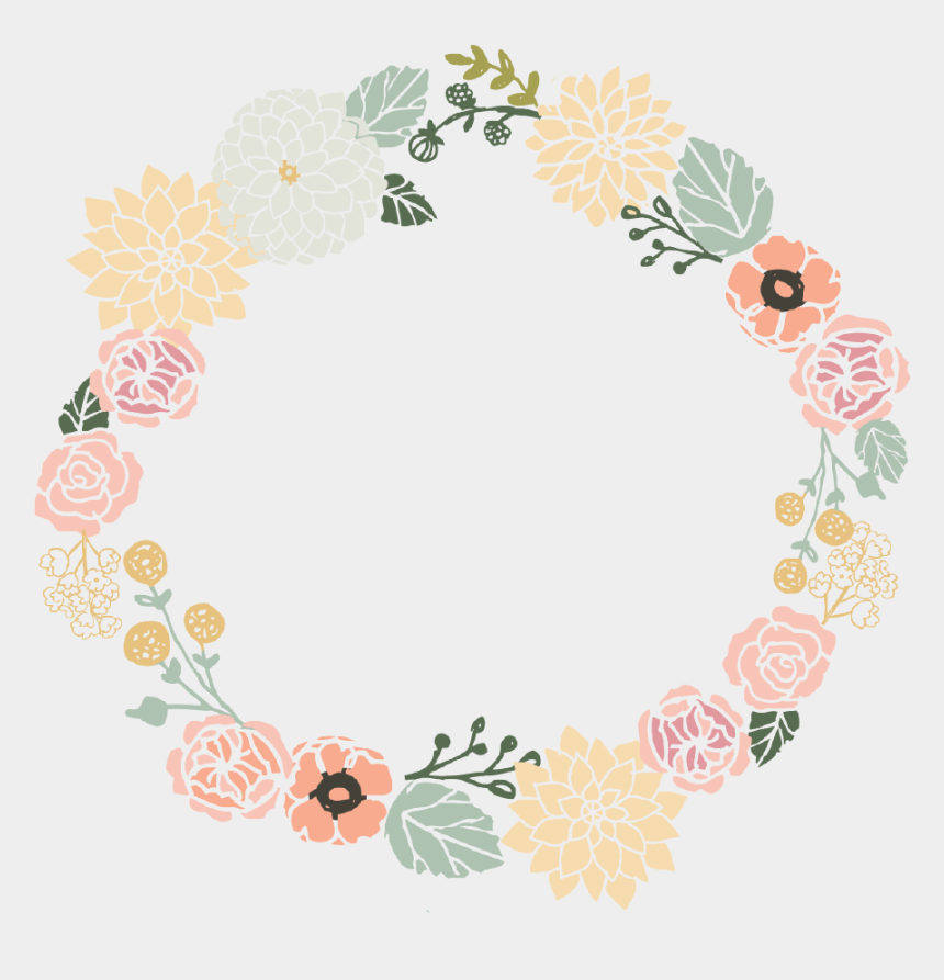 clipart mariage gratuit imprimer, Cartoons - Floral Wreath - Single Card - Vintage Flower Frame Png