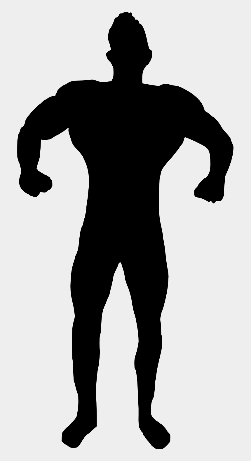 muscle clipart, Cartoons - Bodybuilder Silhouette Png - Silhouette Of Bodybuilder Png