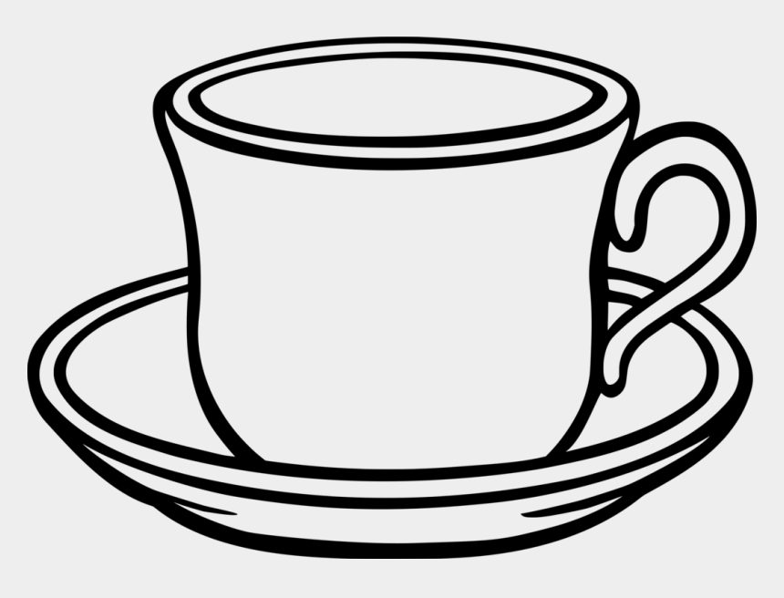 Table-glass Coffee Saucer Teacup - Cup Clipart Black And ...