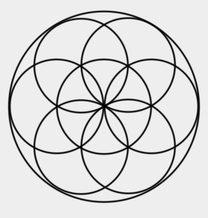 seed clipart, Cartoons - The Seed Of Life - Small Flower Of Life