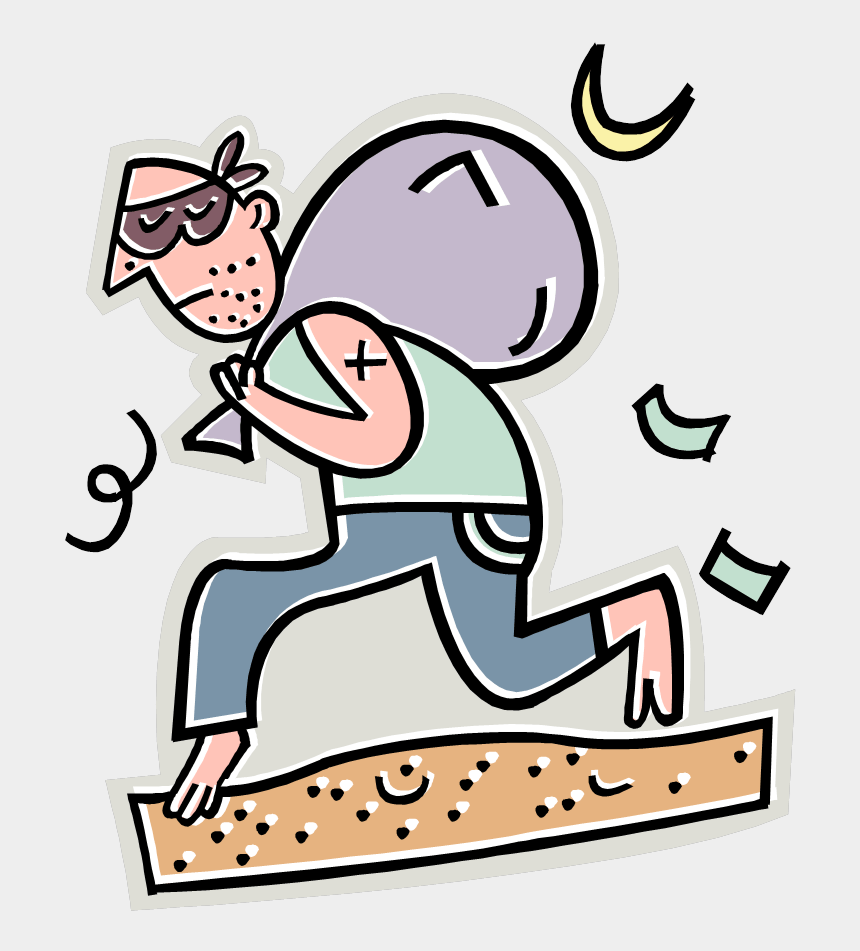 relax clipart, Cartoons - Vacations Are Not The Time To Relax Your Personal Safety, - Thief Clip Art