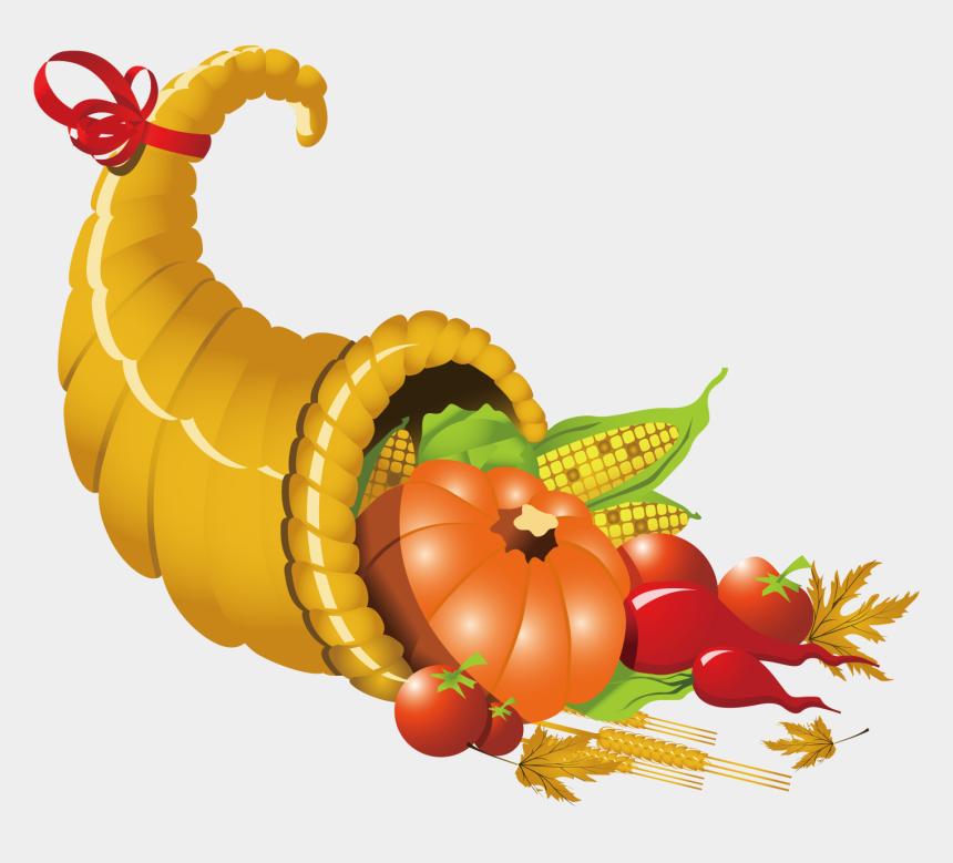 cornucopia clipart, Cartoons - Thanksgiving Cornucopia Clipart - Cornucopia Clipart With Transparent Background