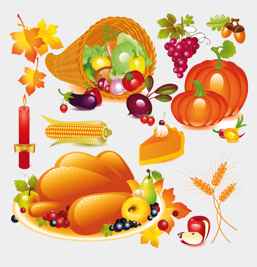 cornucopia clipart, Cartoons - Cornucopia Clipart Vegetarian - Thanksgiving Day Free Vector