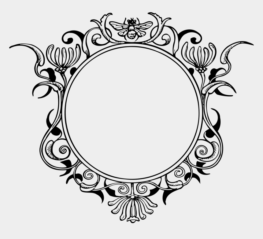 picture frame clip art, Cartoons - Clip Art For Liturgical Year Decorative Arts Download - Round Vintage Frame Png