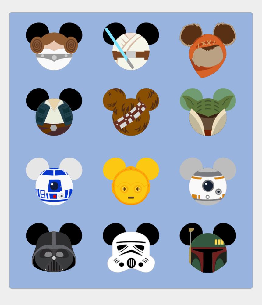 darth vader clipart, Cartoons - Darth Vader Clipart Minnie Mouse - Star Wars Mickey Head