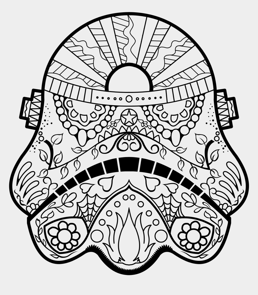 image regarding Free Printable Star Wars Coloring Pages identified as Darth Vader Sugar Skull Animal Coloring Website page, Printable