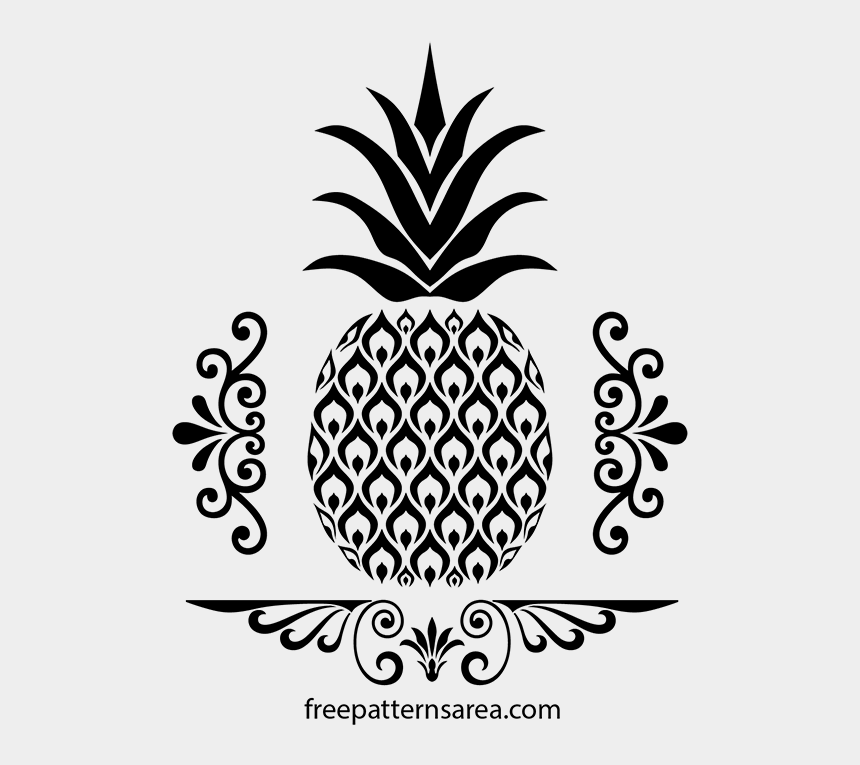 pineapple clipart black and white, Cartoons - Read It - Pineapple Svg Free